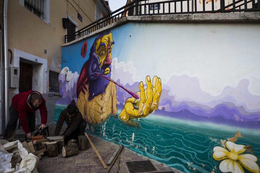 Grafitis en el barrio de San Antón
