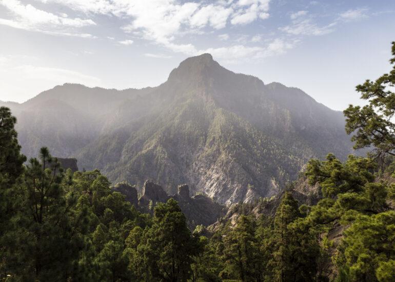 Caldera de Taburiente en Islas Canarias