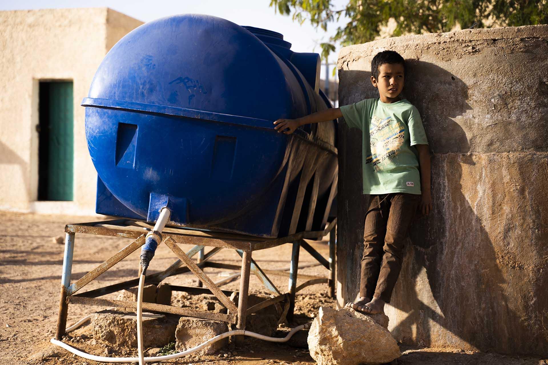 Agua en los Campos Sahara