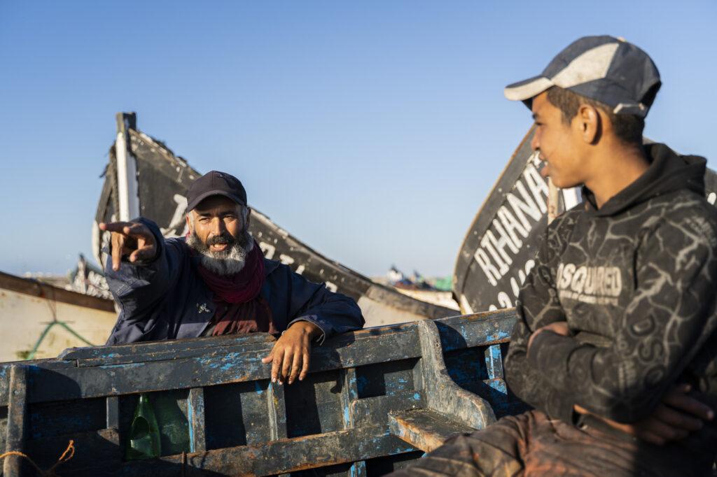 Pescadores en el Sahara Occidental